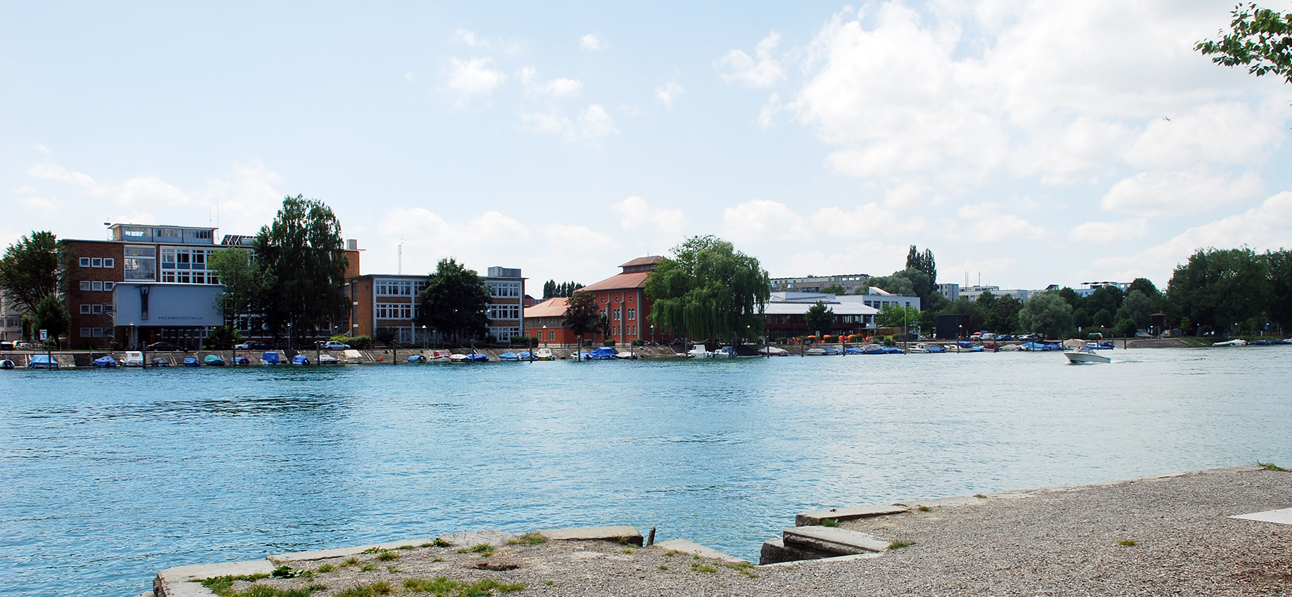Campus and river Rhine