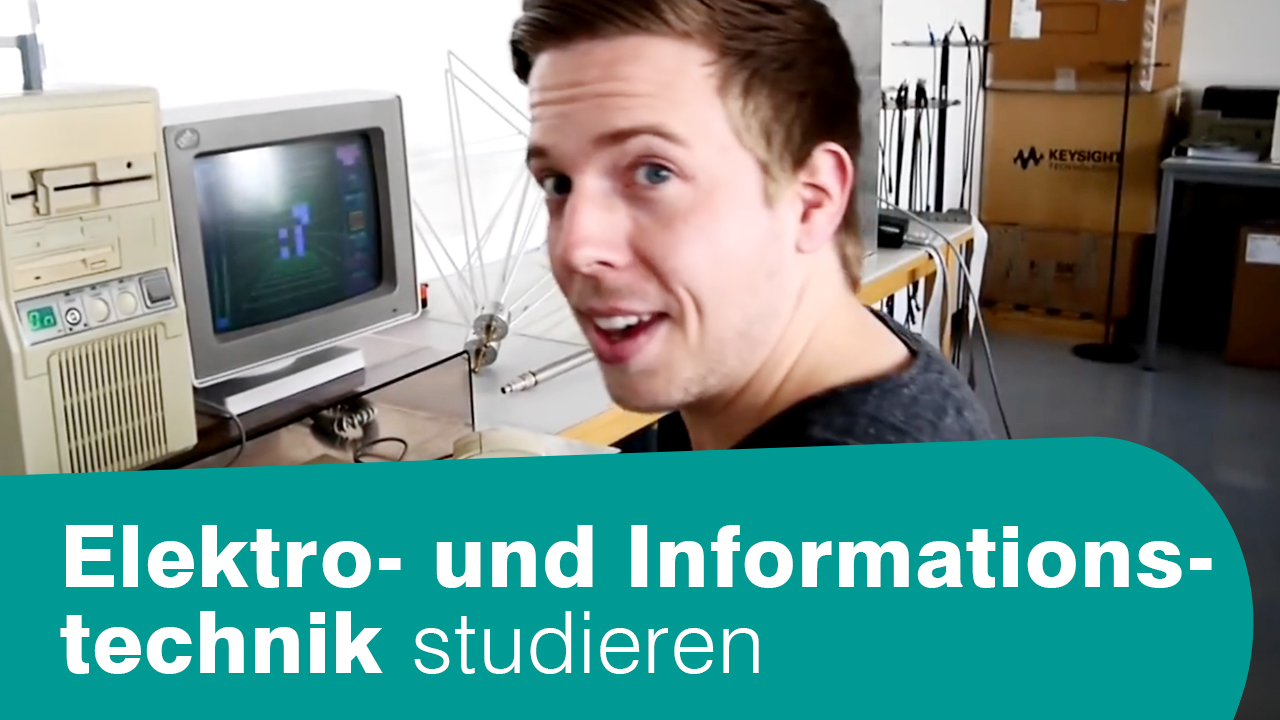 Vorschaubild Video Elektro- und Informationstechnik studieren: Student in Labor